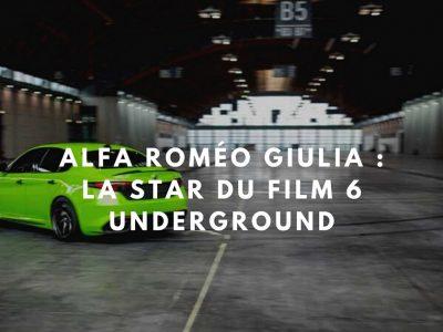 6 underground: l'Alfa Roméo Giulia Quadrifoglio du film